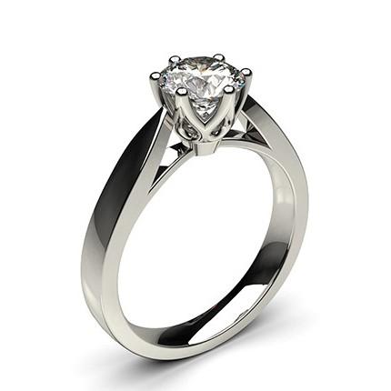 6 Prong Setting Large Engagement Ring