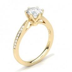 Brilliant Gelbgold  Pavé Verlobungsringe