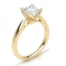 Princess Yellow Gold Engagement Rings