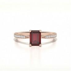 Smaragd Rotgold Seitensteine Verlobungsringe