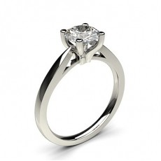 4 Prong Setting Thin Engagement Ring