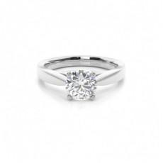 Bague de fiançailles standard solitaire diamant serti 4 griffes profil d