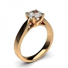 Oval Rotgold Verlobungsringe