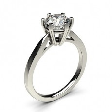 6 Prong Setting Thin Engagement Ring