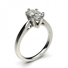 Oval Platinum Diamond Engagement Rings
