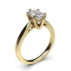 Oval Yellow Gold Solitaire Engagement Rings