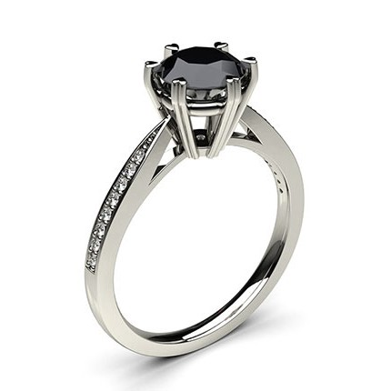 gold set bridal certified jewellery black engagement ring white ebay bhp diamond