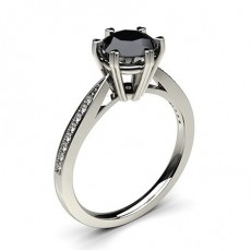 Schwarze Diamant Verlobungsringe
