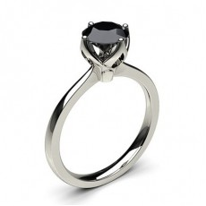 White Gold Black Diamond Engagement Rings