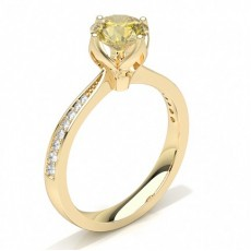 Yellow Gold Yellow Diamond Engagement Rings