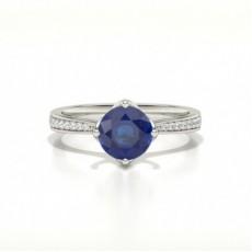 Round Gemstone Diamond Rings