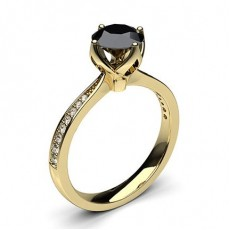 Yellow Gold Black Engagement Engagement Rings