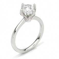 Princess Platinum Classic Solitaire Engagement Rings