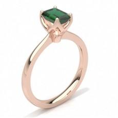 Emerald Rose Gold Gemstone Engagement Rings