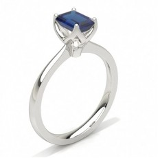 Emerald White Gold Gemstone Engagement Rings