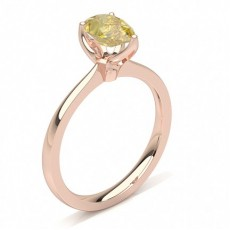 Pear Rose Gold Yellow Diamond Rings