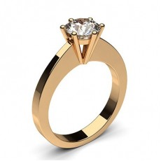 Emerald Rose Gold  Classic Solitaire Diamond Engagement Rings