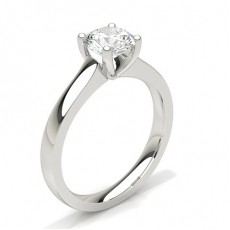Round Platinum Classic Solitaire Engagement Rings