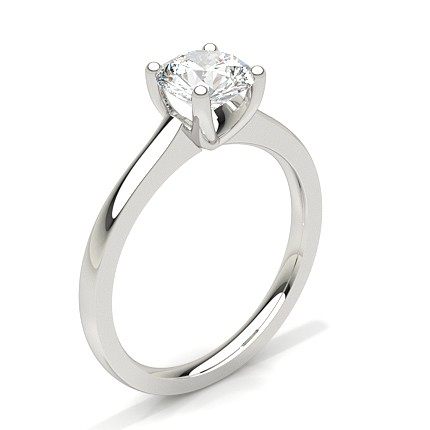 Buy White Gold Round Diamond Engagement Ring Online UK Diamonds