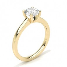 Round Yellow Gold Diamond Rings
