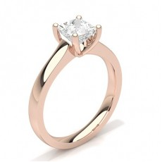 Princess Rose Gold Diamond Rings