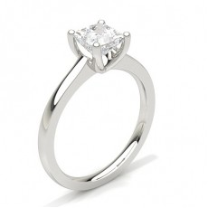 Princess White Gold Solitaire Diamond Engagement Rings