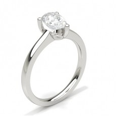 Pear Platinum Solitaire Engagement Rings
