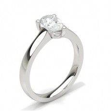 Pear White Gold Diamond Rings