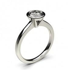 Semi Bezel Setting Diamond Engagement Rings