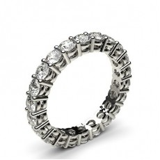 White Gold Full Eternity Diamond Rings