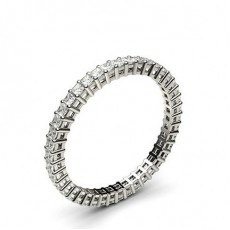 Eternity Diamant Ring in einer Krappenfassung