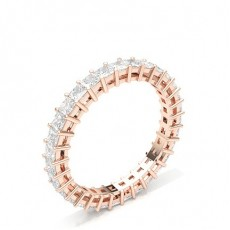 Princess Rose Gold Anniversary Diamond Rings