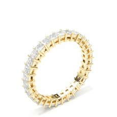 Princess Yellow Gold Anniversary Diamond Rings