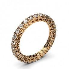 Rose Gold Full Eternity Diamond Rings