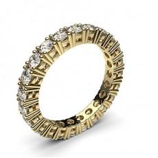 Round Yellow Gold  Full Eternity Diamond Rings