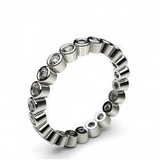Round White Gold Diamond Eternity Rings