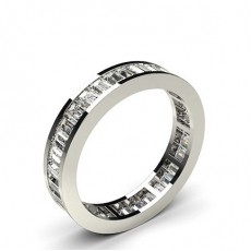 Baguette Or Blanc Bague Diamant