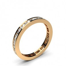 Rose Gold Full Eternity Diamond Rings