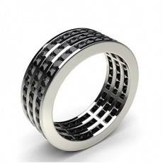 Channel Setting Full Eternity Black Diamond Ring