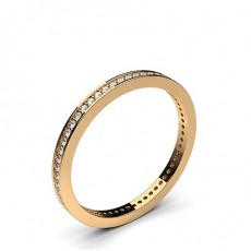 Round Rose Gold Anniversary Diamond Rings