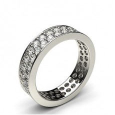 Full Diamond Eternity Rings