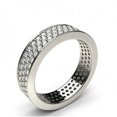 Round Platinum Full Eternity Diamond Rings