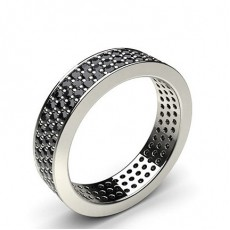 Pave Setting Full Eternity Black Diamond Ring