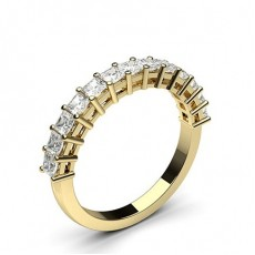 Prinzessin Gelbgold Halb-Memoireringe Diamantringe