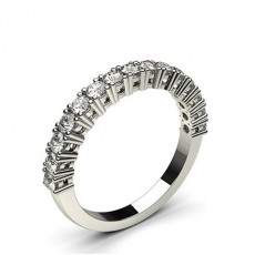 Round Platinum Half Eternity Diamond Rings