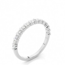 Halb Eternity Diamant Ring in einer Balkenfassung