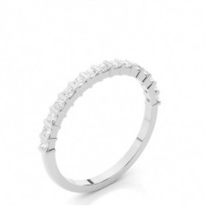 Bar Setting Half Eternity Diamond Ring
