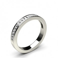 Channel Setting Half Eternity Diamond Ring