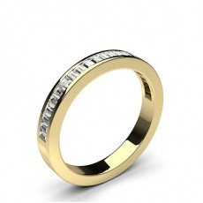 Yellow Gold Diamond Half Eternity Rings