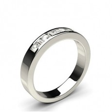 White Gold Half Eternity Diamond Rings
